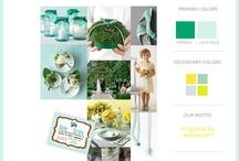 Wedding Colors: Emerald Green & Retro Aquamarine