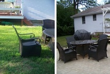 What Cheer! / Some before and afters and some new projects I've taken on since purchasing a 1970s ranch house in 2009