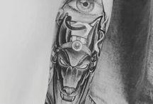 Татуировка анубиса