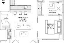clara 1bedr open plan house plan