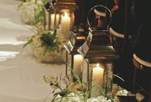 Church wedding deco