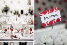 Hochzeit in Weiß-Rot