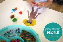 Kneten und Töpfern / Playdough / Playdough ideas
