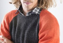 Knitting Patterns for Men's Sweaters / Men's sweater designs offered in kits that include fine yarns, knitting patterns and a unique knitting row checker for monitoring progress as you knit, row by row.