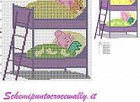 Schemi punto croce gratis di Peppa Pig / Schemi punto croce gratis di Peppa Pig