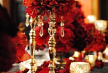 Thembisa Weddings Colour Inspiration / Red & Claret