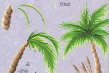 albet,e,foglie,fecorative painting