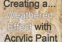 creating a weathered effect