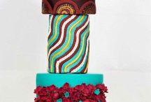 modern wedding cake / Geode topper