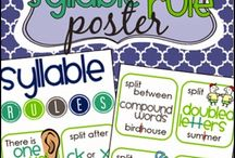 Syllable sounding out word chart