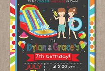 Birthday Invitations / Pixeleen Designs on Etsy Party Printables