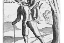 "Man loaded with Mischief / the image of a man carrying a woman on his back became known in Hogarthian times as the ""Man Loaded with Mischief"", became a pub-sign, etc., but this misogynistic visualisation of the woman/wife being a literal 'burden' to the man/husband certainly goes back to c.1600, and doubtless earlier -- sometimes the female 'burden' is a nun carried by a monk -- with all that implies... Happy to be emailed offsite: malcmjones1@gmail.com"
