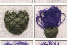 How to do a 3 D thirstle flower felt  embroidery