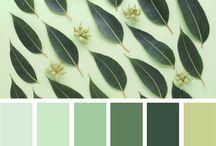 Color palettes GREEN Palety kolorów - zielony