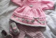 Knitted baby outfits