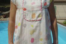 RDC - Robe ou blouse -  Areli / Areli : robe ou blouse à plastron par République du Chiffon
