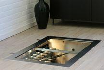 winecellar with lid in floor