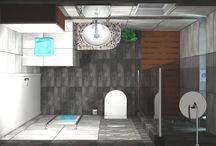 ΑΝΑΚΑΙΝΙΣΗ ΜΠΑΝΙΟΥ / Σχέδια για ανακαίνιση μπάνιου στα Γιαννιτσά του νομού Πέλλας. Ο χώρος έχει διάσταση 1,50 x 2,50 m και το τελικό ύψος είναι 2,00 m.