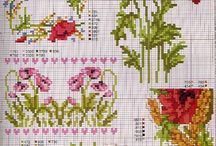 cross stitch poppies
