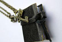 Mini Book Jewelry / Miniature book Jewelry