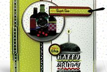 Magazine Free Gifts / Admire perfect cards for the Birthday Boy in this papercraft kit that comes FREE with Crafting with Hunkydory Issue 32