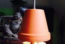 Lampe aus Bumentöprrn