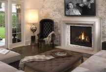 Fireplace wall designs