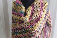 Knit - Crochet Handmade Scarves - Cowl - Shawl