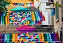 Street Art / #design #creative #tasarım #merdiven #stairs #street #sokaksanatı #art