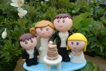 Personalised Wedding Cake Toppers - Three different styles I make