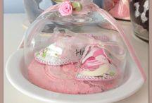 Geboorteschoentje / Schoentje gemaakt van het orginele geboortekaartje