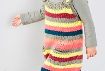 Knitted kids' dresses