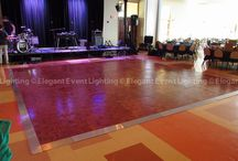 Wood Dance Floor / Looking for a wood dance floor for your event?  Elegant Event Lighting Chicago can provide the perfect sized wood dance floor to keep your guests dancing all night long! www.EELchicago.com