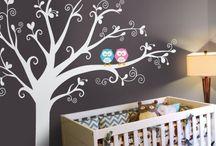 Decoupage baby/kids room