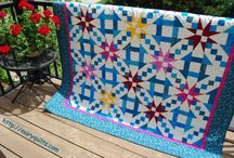 churn dash and star quilt