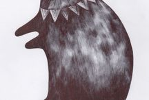 Cats! / My drawings and prints of all the cats I have known.