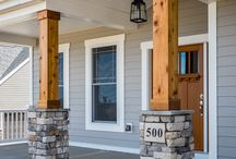 front pillar and wood work