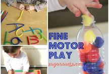 fine motor play / by Elzbieta S.