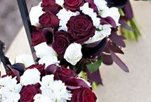 Bordeaux/claret wedding theme / Red is a stunning and vibrant colour and makes a brilliant wedding theme due to its variety of shades and contrast with the White/Ivory or champagne of a wedding dress.