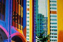 Calgary City Canada / Paintings of Calgary City, acrylic on canvas