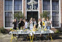 Yellow Wedding / Styled shoot van een prachtige bruiloft met gele kleuraccenten.