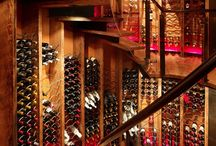 Staircase and wine display