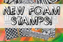 n*Studio ArtFoamies / my foam stamp designs with ArtFoamies