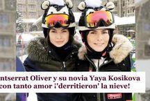 Montserrat Oliver y su novia Yaya Kosikova con tanto amor ¡'derritieron' la nieve!