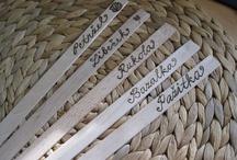 Jmenovky na bylinky - Herb labels