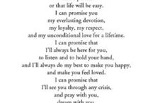 Awesome wedding vows.