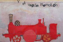 """""""Candela la locomotora y el vagón Remolón"""" / Cuentos ilustrados"""