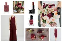 marsala wedding flower color palette / wedding flower color palette