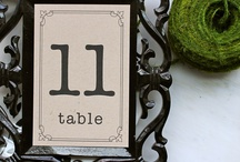 Wedding. Table elements.