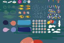 Kit Creator / Una colección de mis últimos trabajos referentes a infografías, banner, y mucho mas